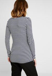 Anna Field MAMA - Long sleeved top - off-white/dark blue - 2