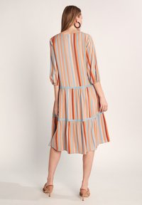 comma - Day dress - terracotta stripes - 2