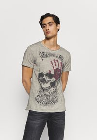 Key Largo - Print T-shirt - silver - 0