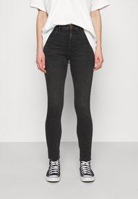 Wrangler - HIGH RISE - Jeans Skinny - soft storm - 0