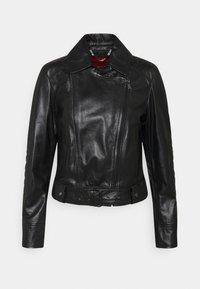 MAX&Co. - BAMBU - Leather jacket - black - 0