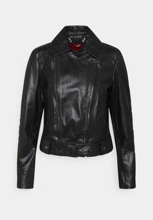 BAMBU - Leather jacket - black
