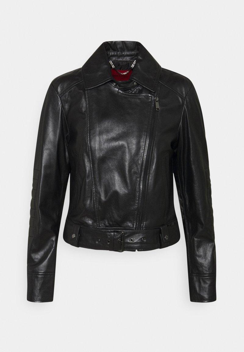 MAX&Co. - BAMBU - Leather jacket - black