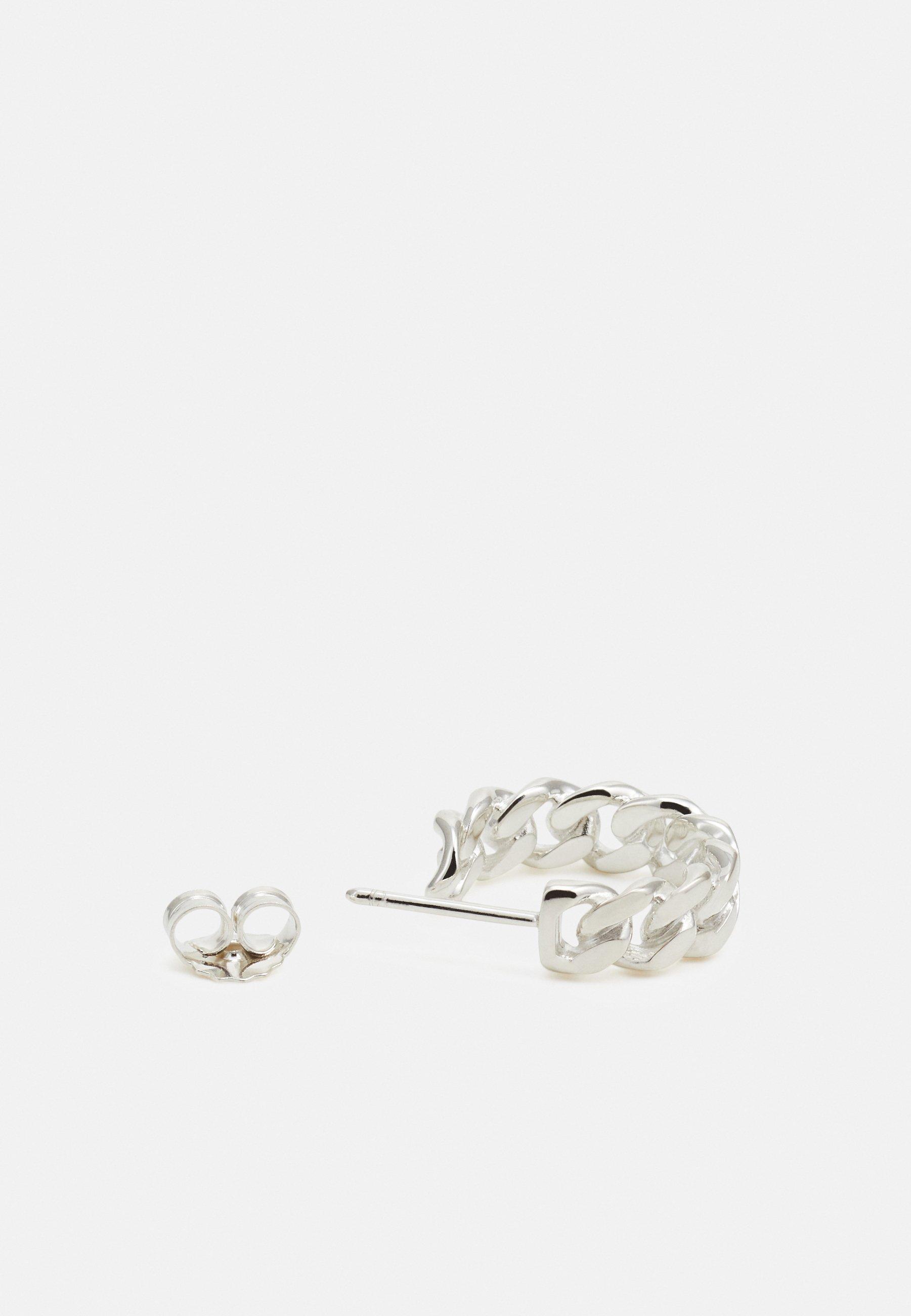 Vibe Harsløf Hoop Chain Medium - Ohrringe Silver/silber