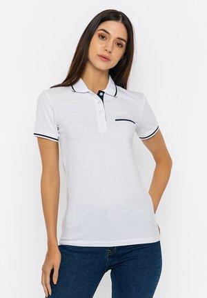 Polo shirt - white/navy