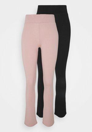 ONLJOYFUL LIVE LOVE FLARE PANT PETIT 2 PACK - Trousers - adobe rose/black