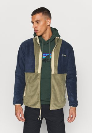 BACK BOWL FULL ZIP  - Fleecejakker - stone green/collegiate navy