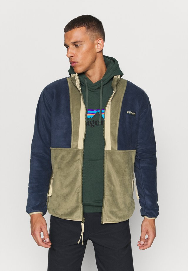 BACK BOWL FULL ZIP  - Fleecetakki - stone green/collegiate navy