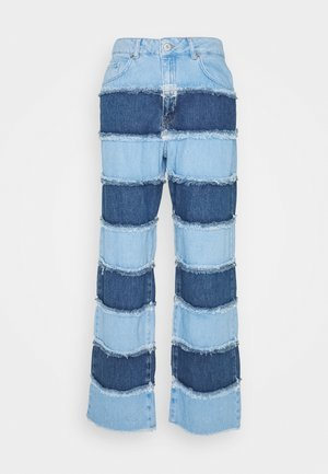 STRIPE PANEL DAD  - Straight leg jeans - blue