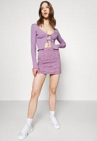 BDG Urban Outfitters - PATCHWORK PELMET SKIRT - Minirok - lilac - 3