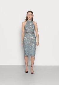 SISTA GLAM PETITE - GLOSSIE  - Koktejlové šaty/ šaty na párty - grey/blue - 0