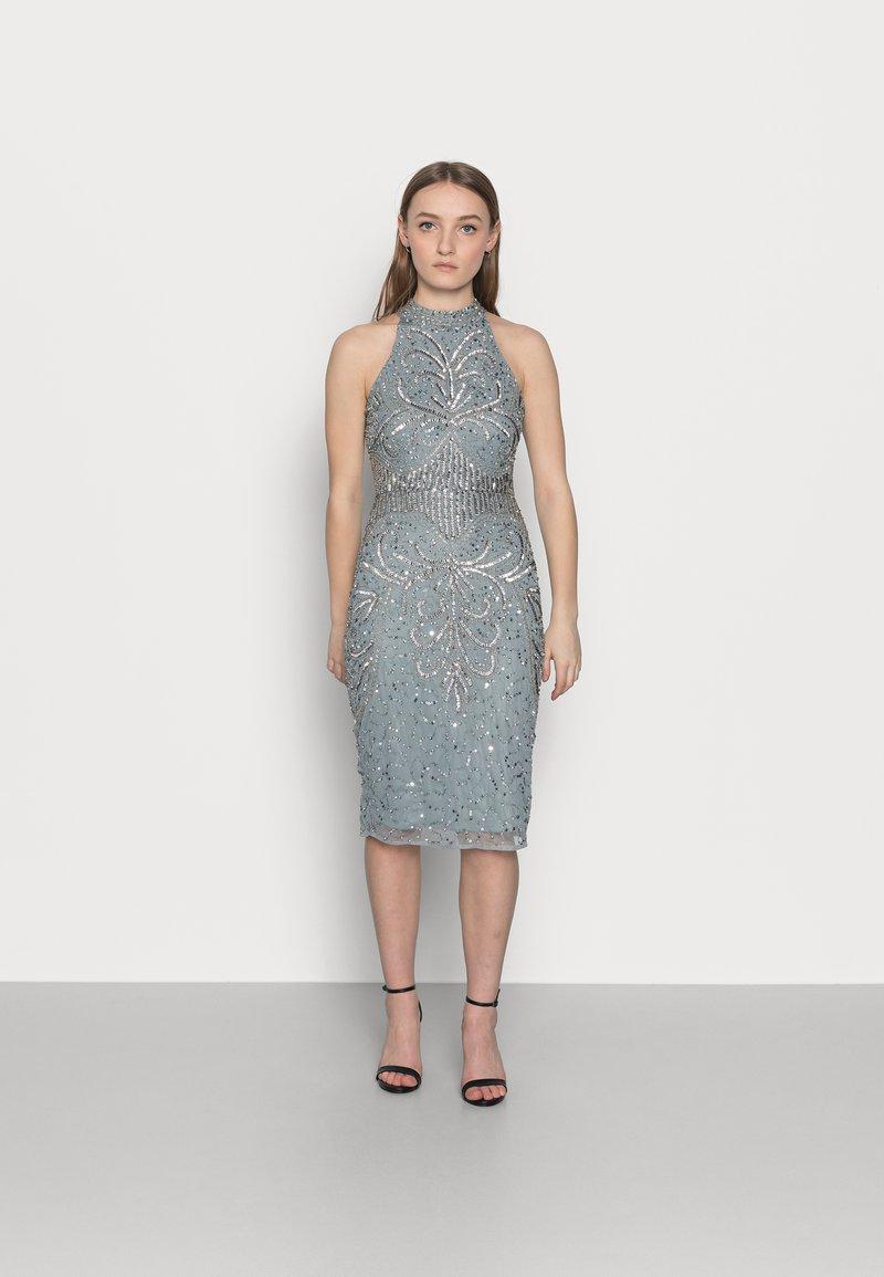 SISTA GLAM PETITE - GLOSSIE  - Koktejlové šaty/ šaty na párty - grey/blue
