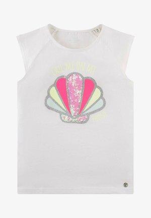 T-shirt print - cloud dancer|white