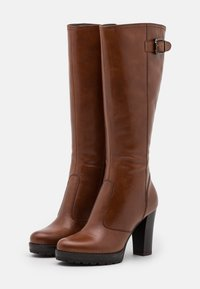 Anna Field - LEATHER - High heeled boots - cognac - 2