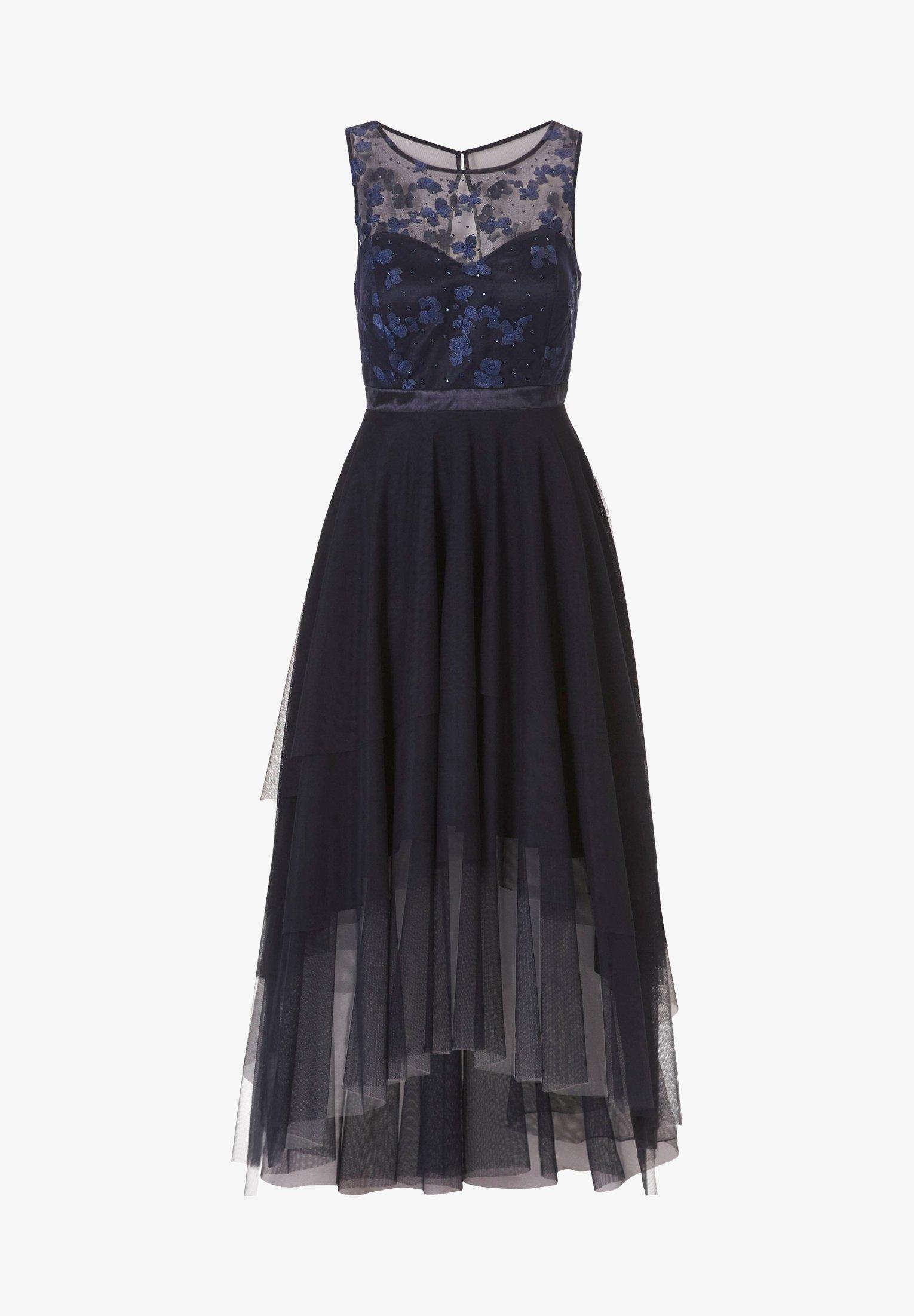 MIT APPLIKATION - Cocktailkleid/festliches Kleid - black