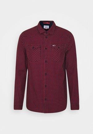 GINGHAM WESTERN - Shirt - deep crimson