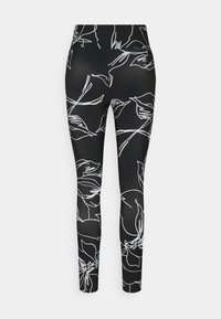 DKNY - ETCH FLORAL PRINT HIGH RISE 7/8 - Leggings - black - 7