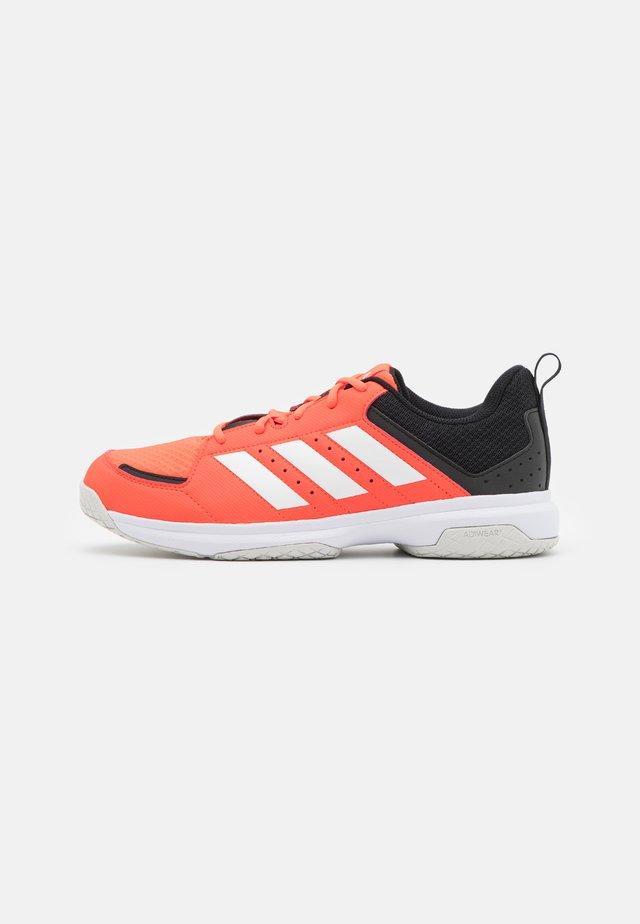 LIGRA 7  - Käsipallokengät - solar red/core black/footwear white