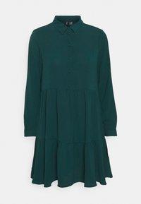 VMSAGA COLLAR PEPLUM DRESS - Shirt dress - sea moss