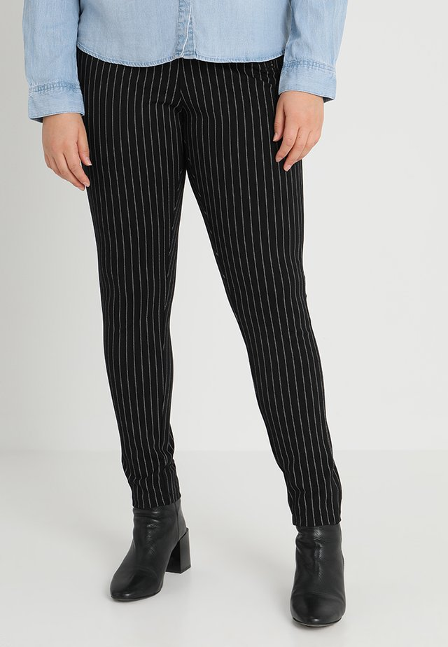 PANTS STRIPED - Leggings - Trousers - black