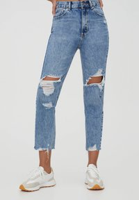 PULL&BEAR - MOM - Relaxed fit jeans - light blue - 0