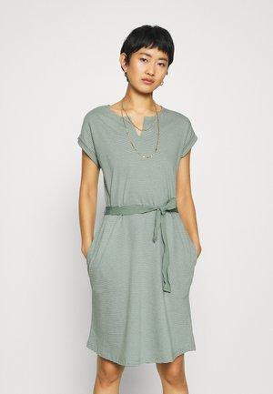 EASY DRESS - Žerzejové šaty - olive khaki