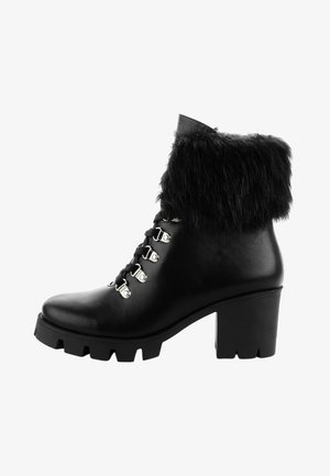GABY - Lace-up ankle boots - black