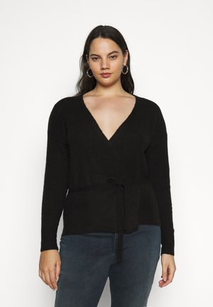 KCWELLY WRAP - Chaqueta de punto - black deep