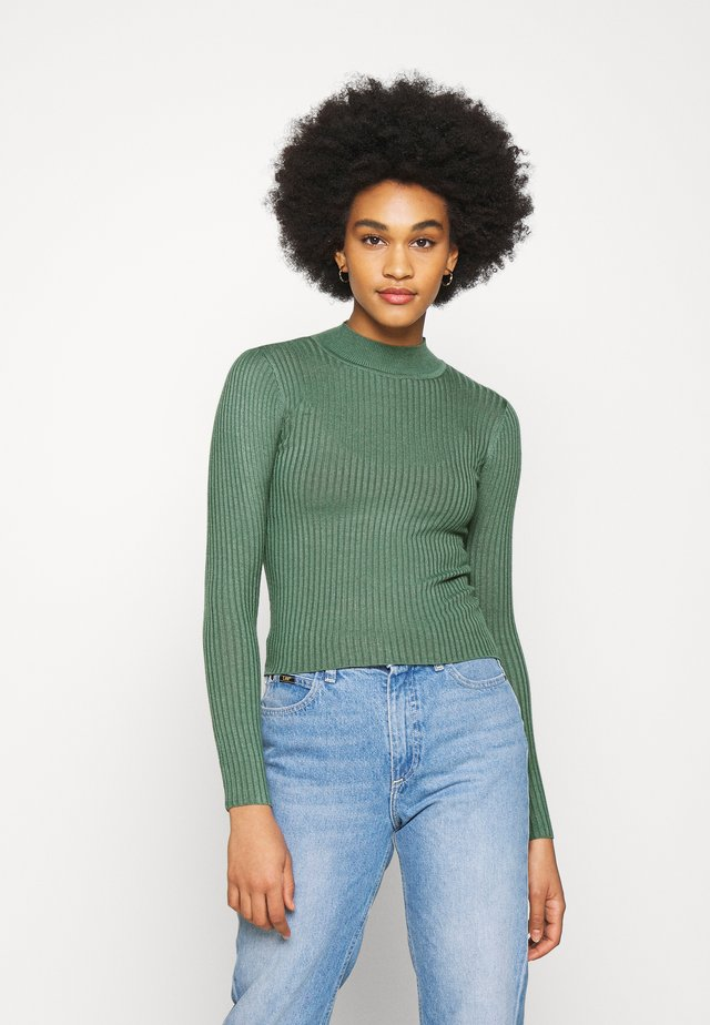 QUINNY VARIGATED - Pullover - duck green