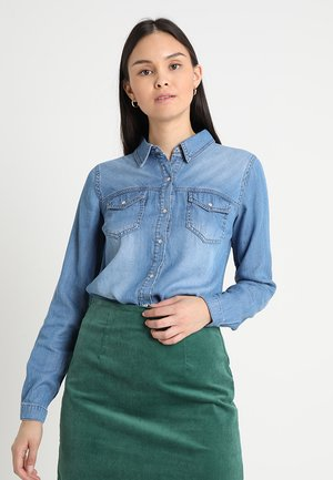 VIBISTA DENIM SHIRT - Button-down blouse - medium blue denim