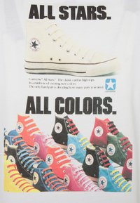Converse - ALL STAR  ARCHIVE TEE - Print T-shirt - white - 2