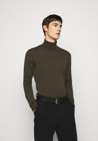 J.LINDEBERG - LYD - Stickad tröja - moss green - 0