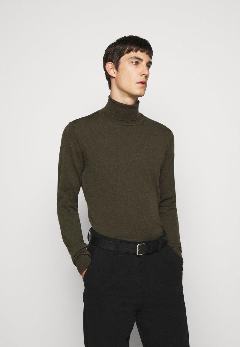 J.LINDEBERG - LYD - Stickad tröja - moss green