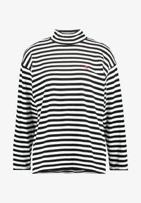 Carhartt WIP - HALDON - Long sleeved top - black/white/cardinal - 3