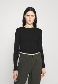 BDG Urban Outfitters - RUCHED  - Long sleeved top - black - 0
