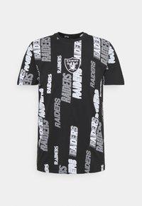 New Era - NFL LAS VEGAS RAIDERS RETRO SPORTS TEE - Print T-shirt - black - 4