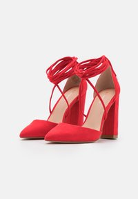 Even&Odd - Lace-up heels - red - 2