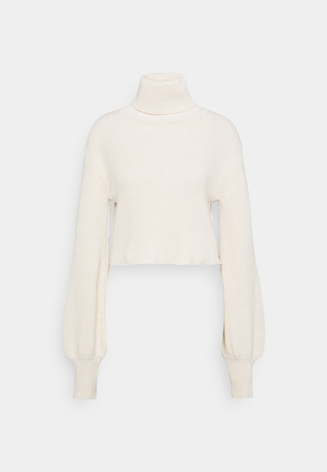 CROPPED TURTLENECK - Pullover - off-white