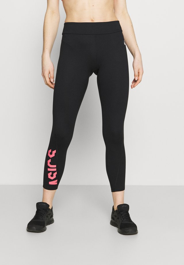 Leggings - performance black/peach petal