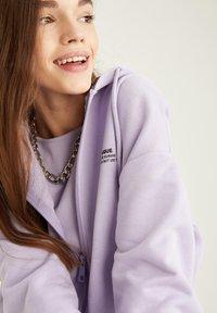 DeFacto - Zip-up hoodie - purple - 4