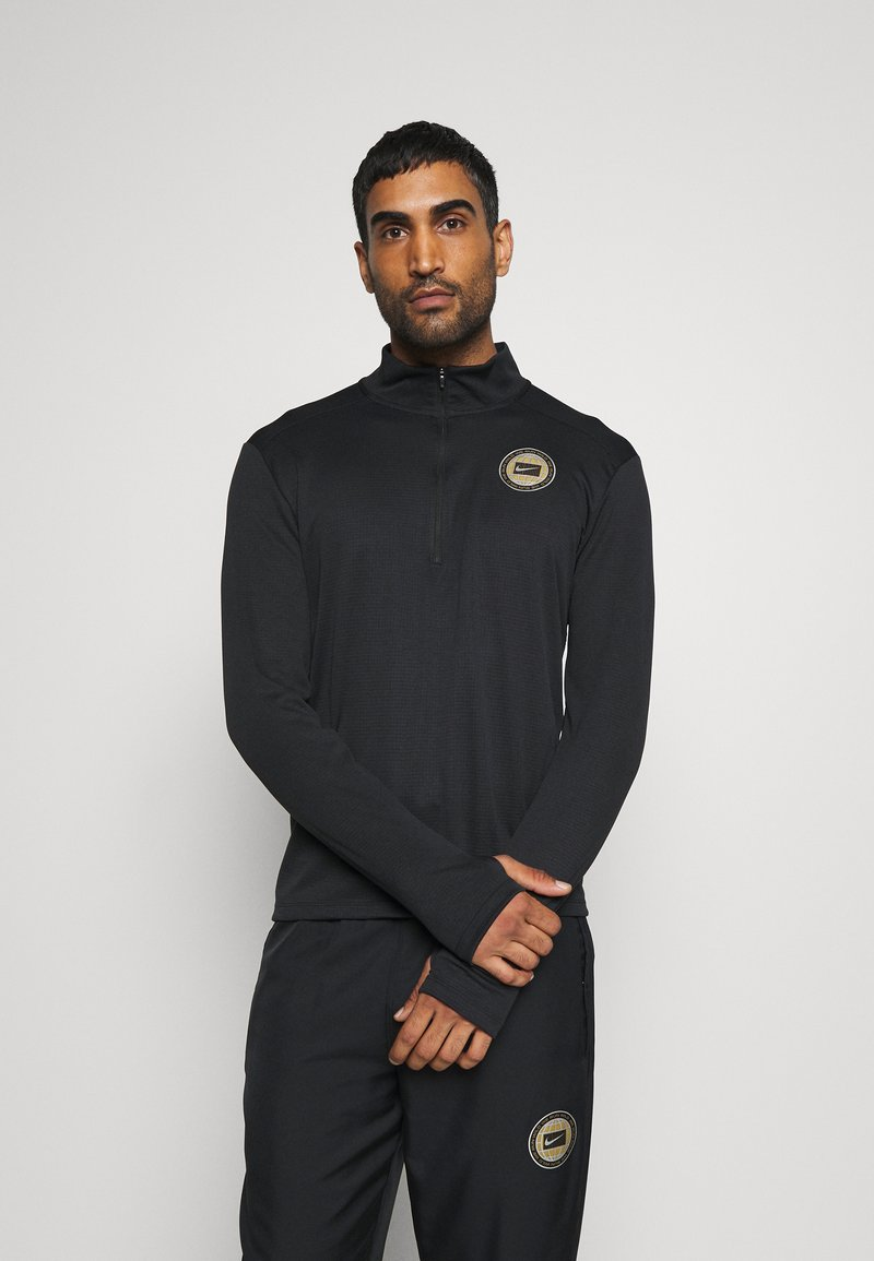 Nike Performance - PACER  - Sports shirt - black/silver