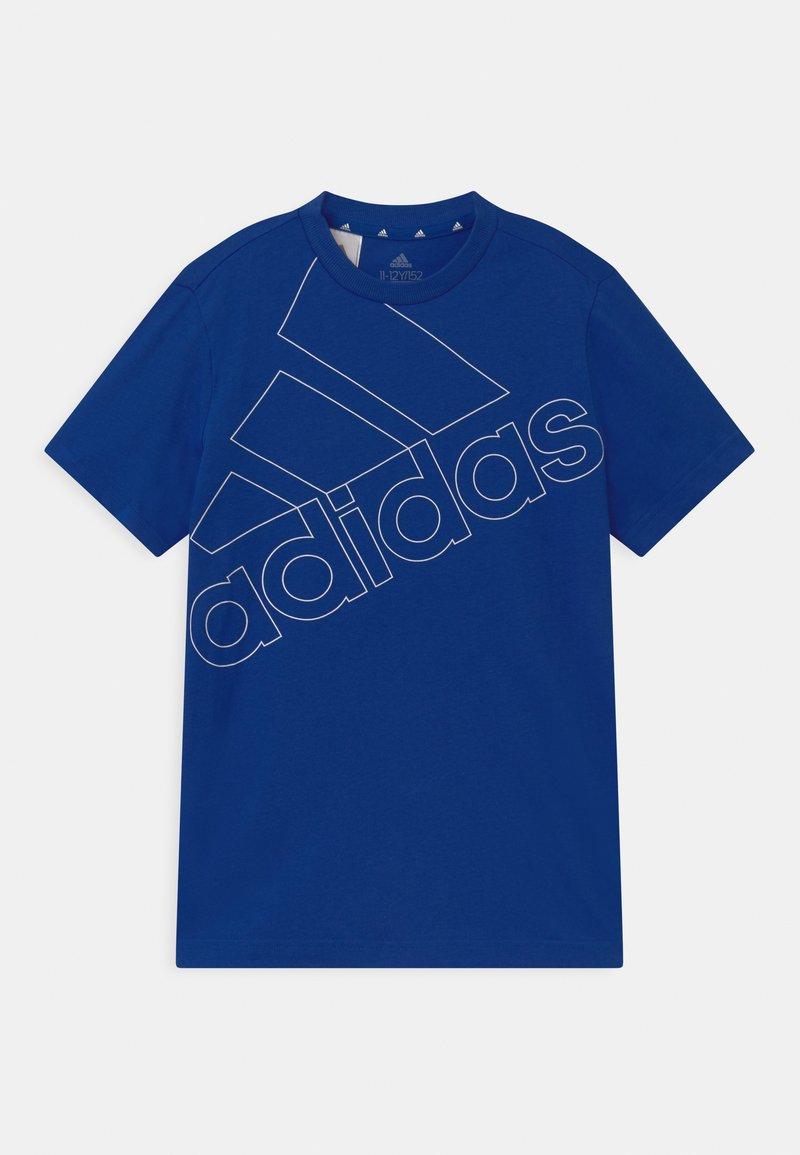 adidas Performance - LOGO UNISEX - Print T-shirt - royal blue/white