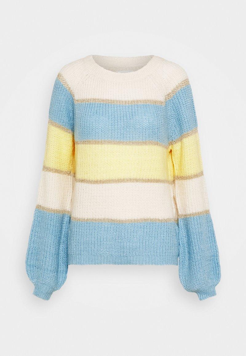 Springfield - BLOCK COLOR  - Strikkegenser - yellow/white/bleu