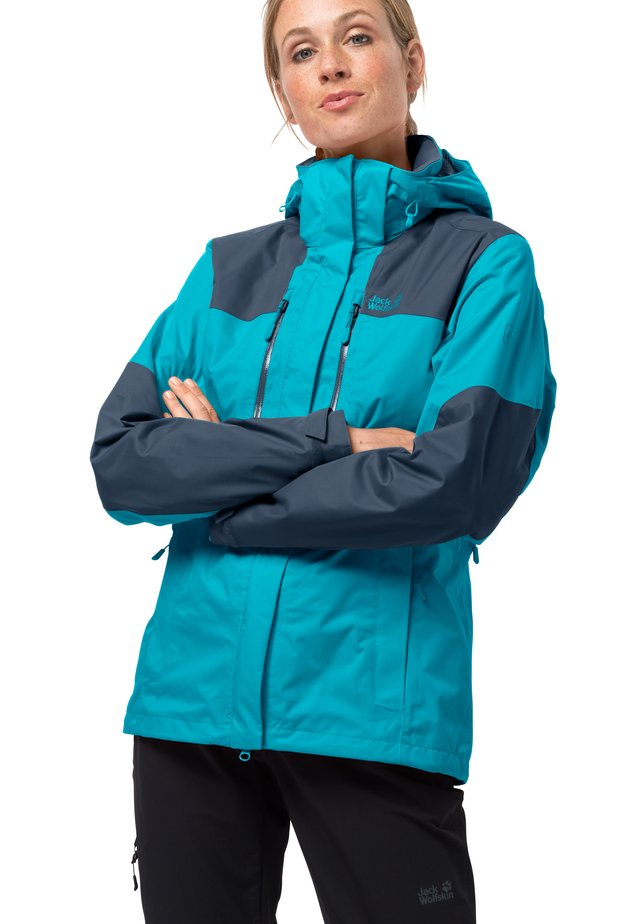 JASPER JKT W - Waterproof jacket - dark aqua