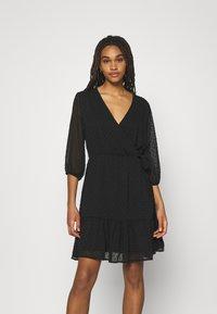 JDY - JDYEMILIA WRAP DRESS - Day dress - black - 0