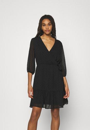 JDYEMILIA WRAP DRESS - Day dress - black