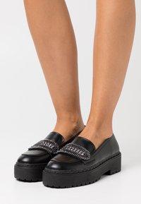 Even&Odd - Scarpe senza lacci - black - 0