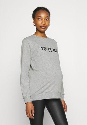 SWEATER NURSING TOI ET MOI - Sweatshirt - grey