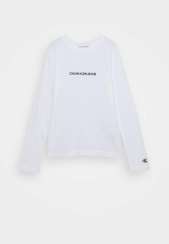 LOGO - Pitkähihainen paita - white