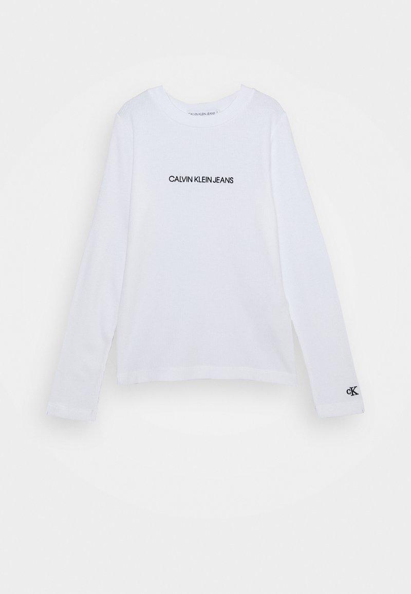 Calvin Klein Jeans - LOGO - Top sdlouhým rukávem - white